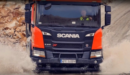 Scania XT test w kopalni
